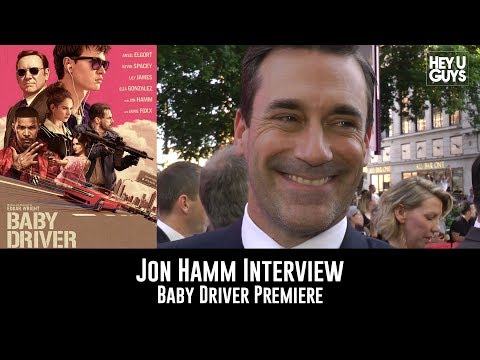 Jon Hamm Baby Driver UK Premiere Interview