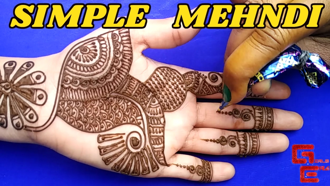 Mehndi For Girls : Sweet and simple mehndi design for full hand girls era youtube
