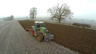 Fendt Winter ploughing Bourne Lincolnshire