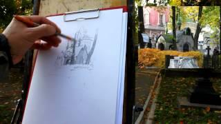 Обучение рисунку. Введение. 28 серия: пленэр, объект в среде