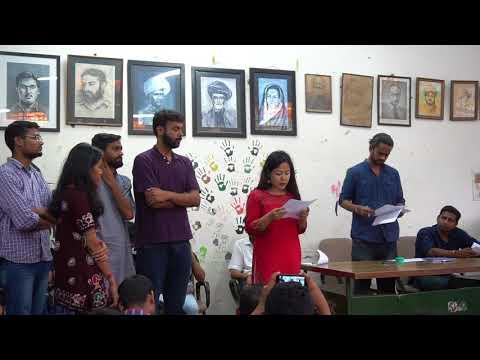 Oath Taking Ceremony of JNUSU 2017-18