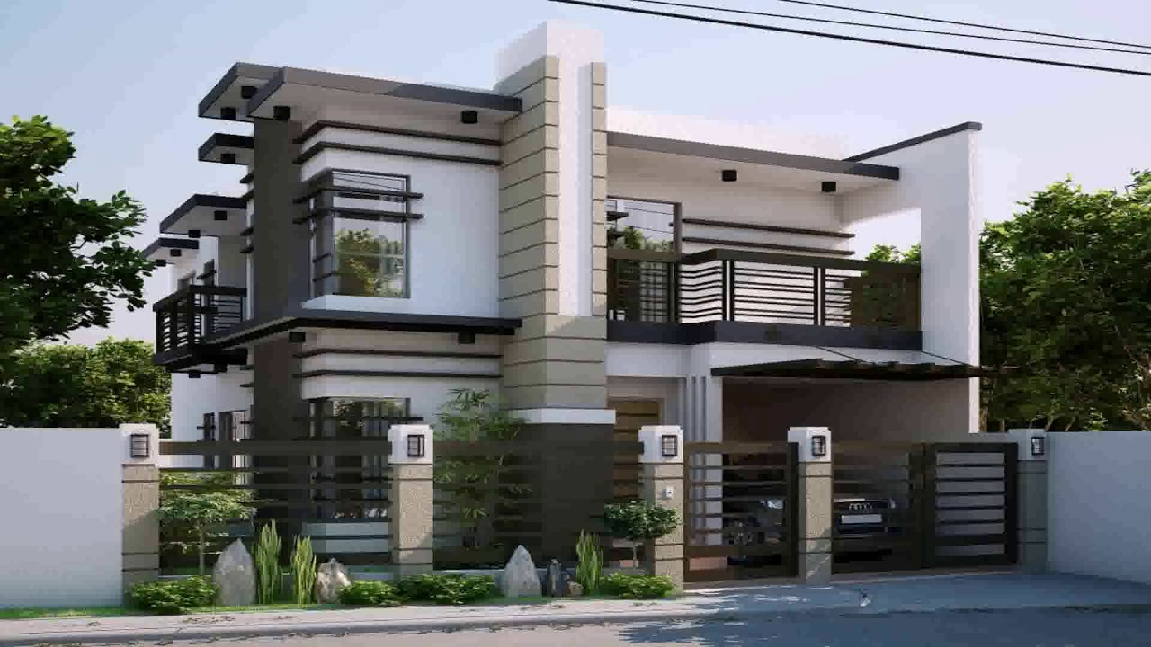 2 Storey House Design With Roof Deck In Philippines Youtube