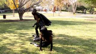 Batgirl vs.  Catwoman Fight In Real Life!