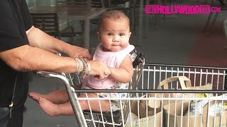 Chrissy Teigen & John Legend's Baby Luna Stephens Hits Whole Foods For A Juice Run 9.20.16