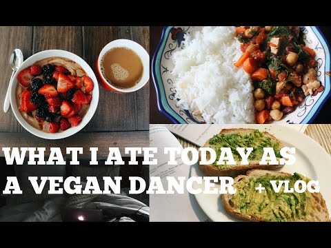 WHAT I ATE TODAY AS A VEGAN BALLET DANCER  + VLOG | REST DAY