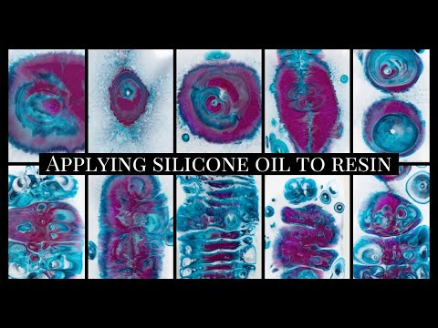 Applying silicone oil to resin demonstration