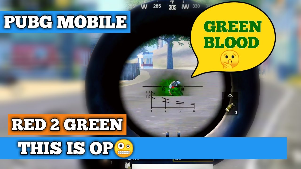 How to enable green blood in Pubg mobile | Green blood is op in Pubg mobile  | Pubg mobile Hindi