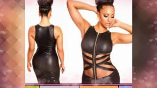 Top Leather mesh dress For Women
