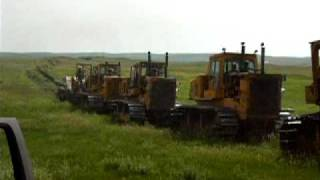 Fiat Allis Bulldozers digging in new water line