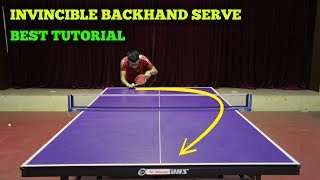 Learning Invincible Backhand Serve | MLFM Table Tennis Tutorial