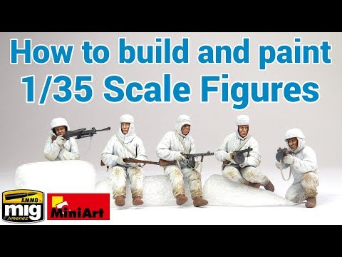 How to build and paint 1/35 scale figures! - MiniArt's 'Soviet Assault Infantry'/AMMO's Flesh Tones