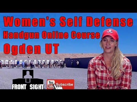 Women's Self Defense Handgun Online Course-Ladies Self Defense Handgun Course Online-Ogden UT