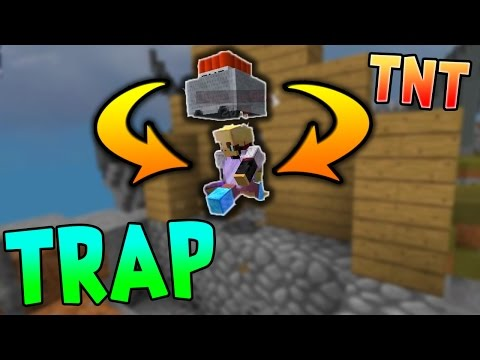 EPIC TNT CART TRAP..!! | MINECRAFT SKYWARS TRAPS