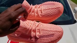 Pink Glow Adidas Yeezy Boost 350 V2