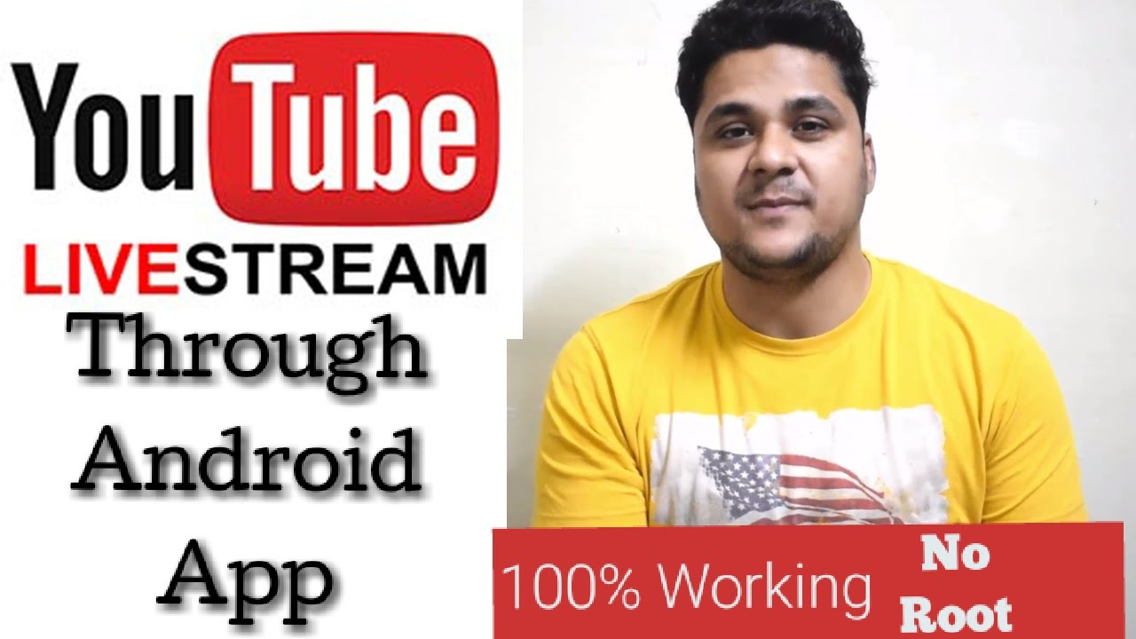 How To LIVE Stream On YouTube Through Android App? Use This App| Use Any  Where