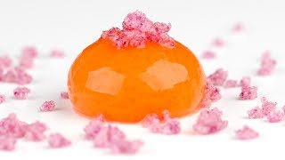 Molecular Gastronomy: Frozen Reverse Spherification to Make Spheres with Liquid Inside