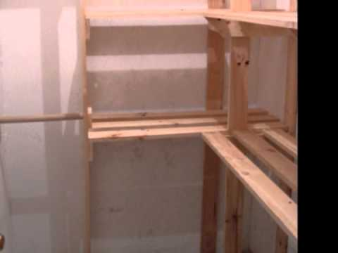 Repisas para bodegas youtube - Estantes de madera para pared ...