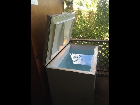 COLD WATER THERAPY - CRYOTHERAPY -  HYDROTHERAPY - DEEP FREEZER COLD PLUNGE AT HOME!!
