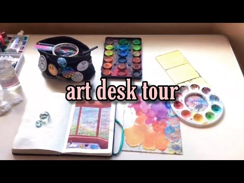 🌷-art-desk-tour-2020-🌷