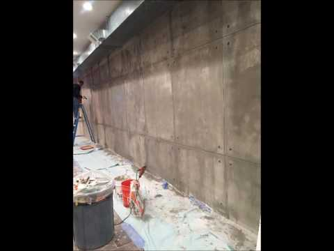 How To Create A Faux Concrete Wall Youtube