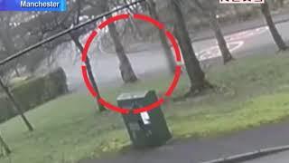 Hooded Stranger Creeps Up Behind Girl in UK