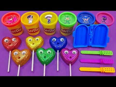 Satisfying Video l How To Make Glitter Ice Cream Stick With Playdoh Cutting ASMR #88 Bon Bon