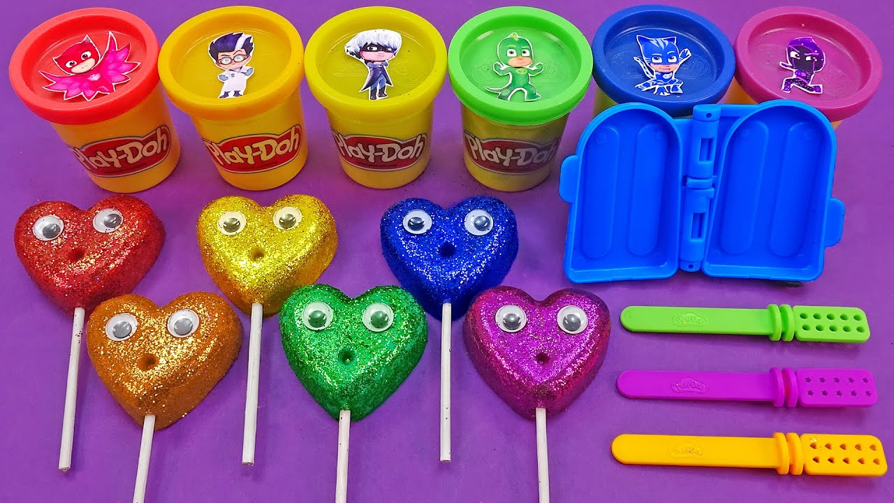 Download Satisfying Video l How To Make Glitter Ice Cream Stick With Playdoh Cutting ASMR #88 Bon Bon