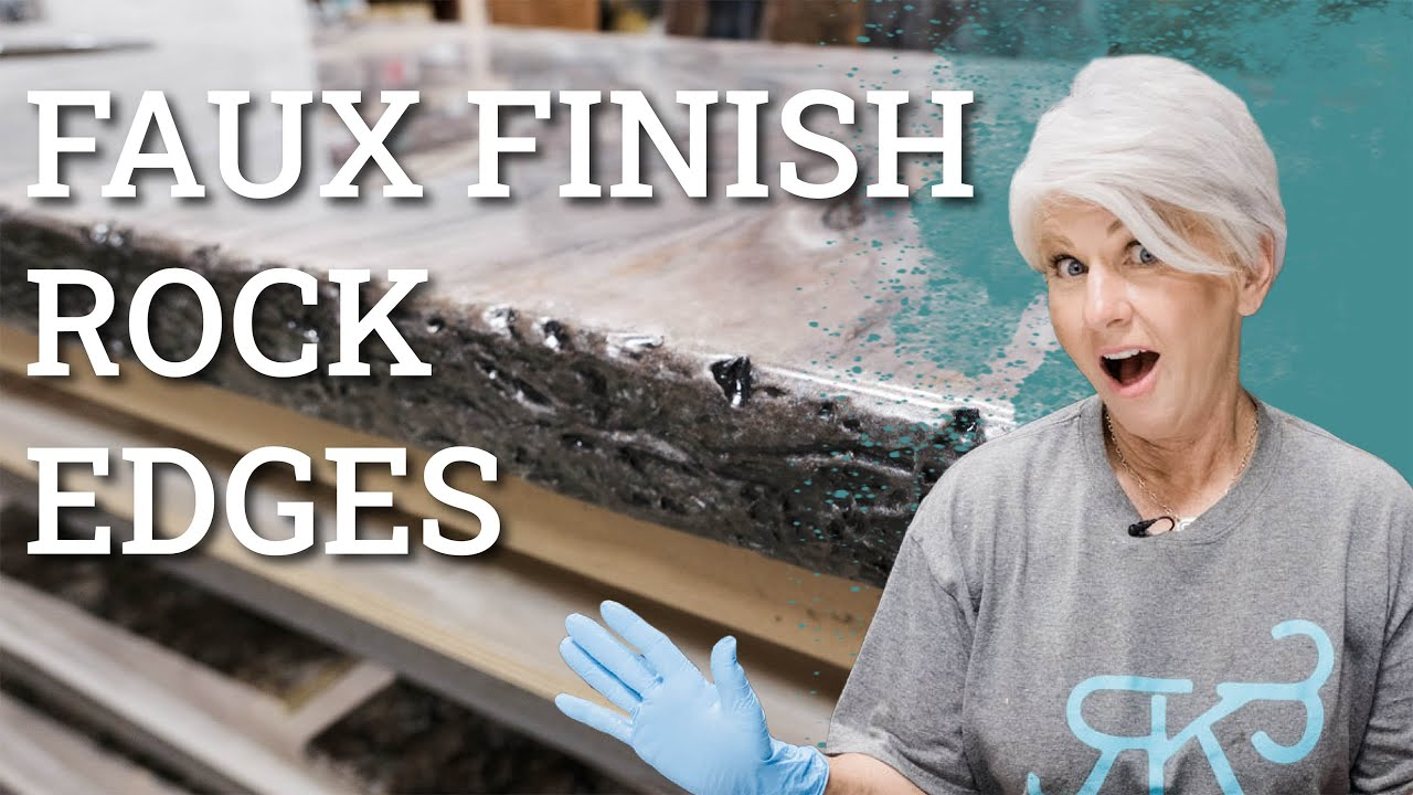 Epoxy Countertops Faux Finish Rock Edges I Stone Coat Countertop Epoxy