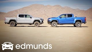 ZR2 vs TRD PRO Climb Hype Mountain!: Are they as good as people think?  Part II | Edmunds
