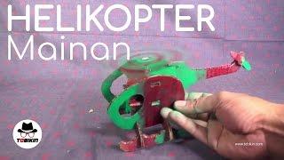 Membuat Helikopter Mainan (mainan handmade kreatif)
