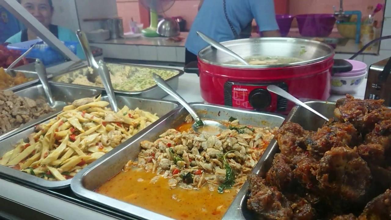 Thai Secondary school Canteen โรงอาหารโรงเรียนมัธยมในประเทศไทย