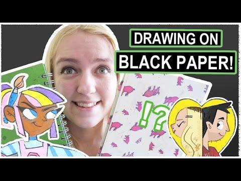 Drawing SUPERHEROES on BLACK PAPER!