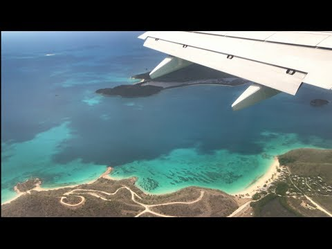 Antigua - part 1: INCREDIBLE Views - Boeing 737 Landing - V.C. Bird International Airport (4k)