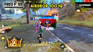 AIRDROP WITH 100 IQ OVERPOWER MOMENT | GARENA FREE FIRE #Shorts