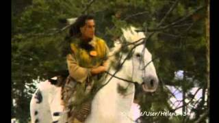 Native American-Cheyenne In The Snow.wmv