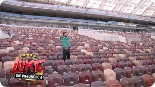 Platz reserviert – Luke im Luschniki-Stadion in Moskau
