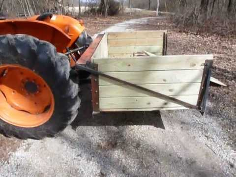 3 point hitch wood hauling box - YouTube