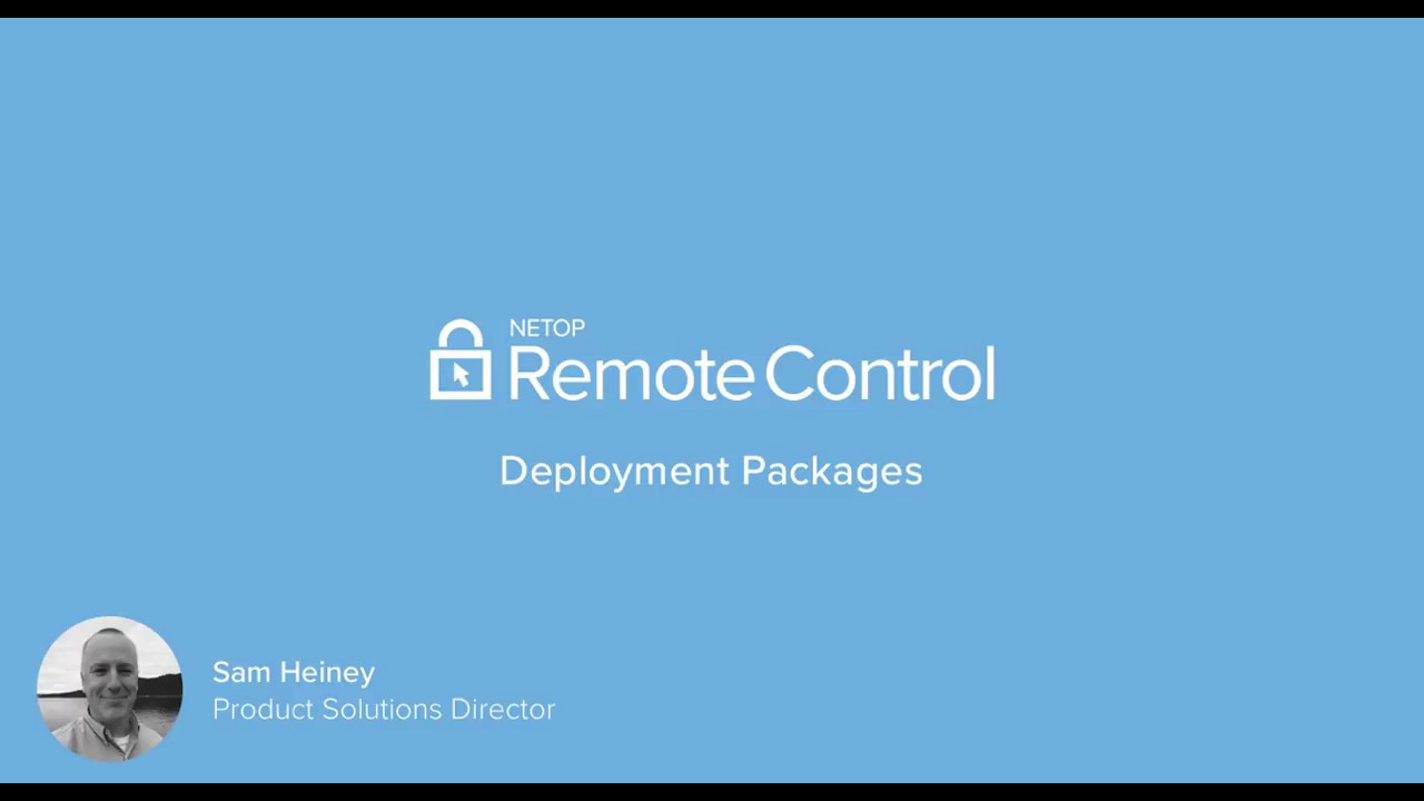Netop Remote Control Portal - Deployment Packages