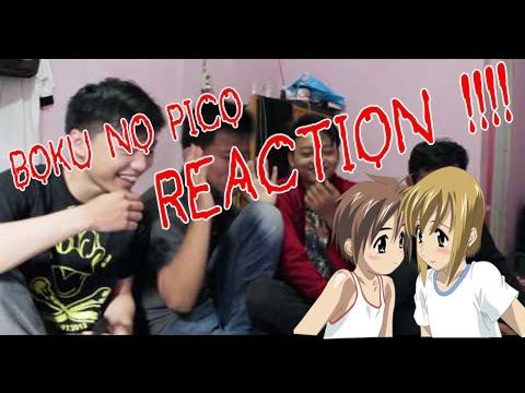 Heboh !!! Mahasiswa Menangis Saat Menonton Anime - Boku No Pico Reaction