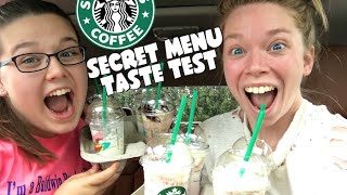 STARBUCKS SECRET MENU TASTE TEST FT MY COUSIN!