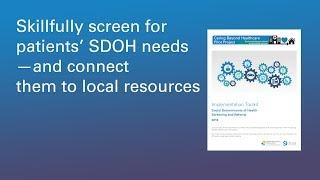 Social Determinants of Health: hospital screening & community referrals
