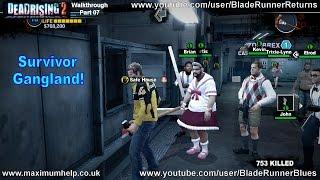 07 Survivor Gangland! + Leon Boss Fight! Dead Rising 2 Walkthrough PC Maximum Graphic Settings 1080p