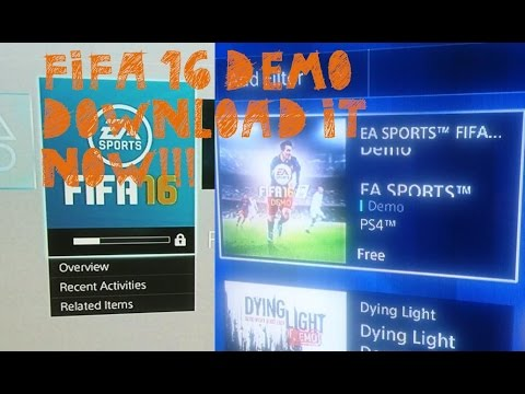 FIFA 16 DEMO PS4 DOWNLOAD TUTORIAL!!!