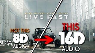 Alan Walker x A$AP Rocky - Live Fast (PUBGM) [16D AUDIO | NOT 8D] 🎧 [ASMR]