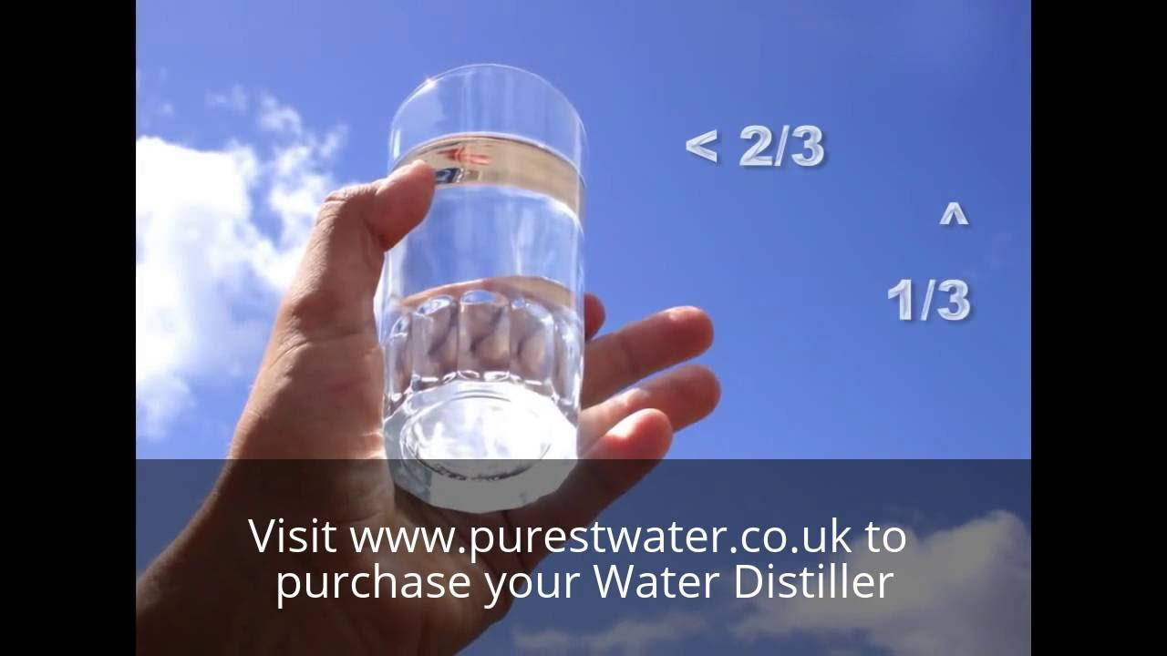 Why You Should Drink Distilled Water Youtube