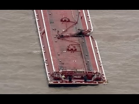 Download Oil Tanker, Barge Collision Causes Massive Gas Spill in Houston Ship Chanel
