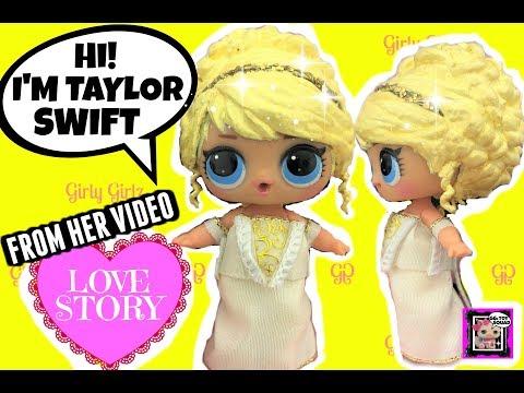LOL Doll TAYLOR SWIFT CUSTOM From Her Video LOVE STORY~ Doll Story Video & GG Custom