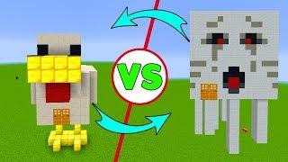 TAVUK EV vs GHAST EV - Minecraft