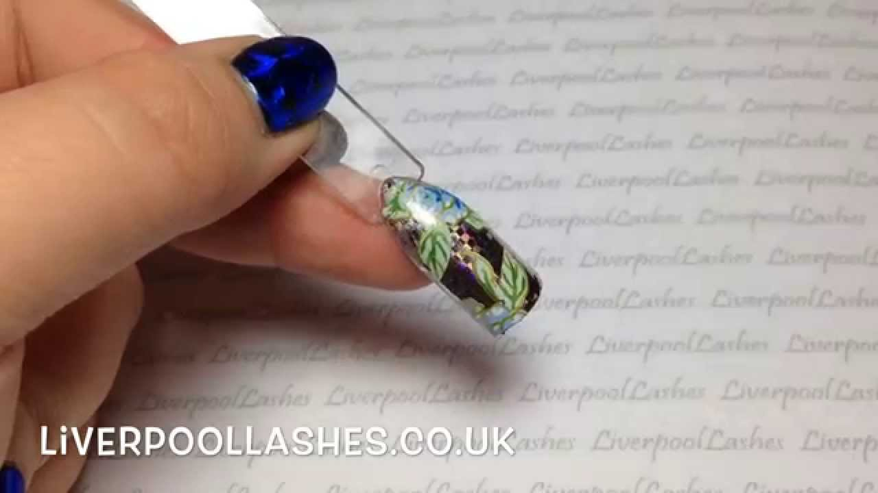 How To Do Full Coverage Nail Foils - LiverpoolLashes - YouTube