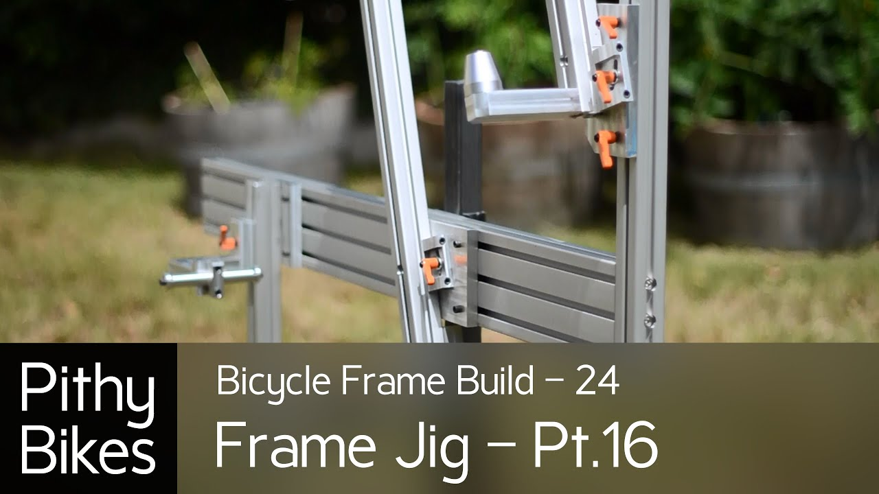 bicycle frame build 24 frame jig pt16 make dummy axle finish frame jig youtube